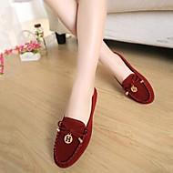 로퍼 - 캐쥬얼 - 여성의 신발 - 컴포트 / 둥근 앞코 / 닫힌 앞코 - 패브릭 - 플랫 - 블랙 / 블루 / 옐로 / 버건디