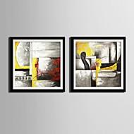 baratos -Animal / Fantasia Quadros Emoldurados / Conjunto Emoldurado Wall Art,PVC Preto Cartolina de Passepartout Incluída com frame Wall Art