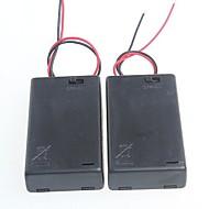 3 pacotes padrão com caixa de interruptor de bateria para aa baterias 4.5v