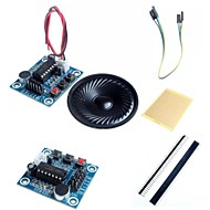 isd1820 módulo de gravação de áudio de som w / microfone / alto-falante e acessórios para arduino