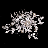 billiga Brudhuvudbonader-Kristall Tyg Legering Tiaras Hair Combs 1 Bröllop Speciellt Tillfälle Fest / afton Casual Hårbonad