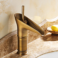 cheap Antique Brass Series-Traditional Centerset Ceramic Valve One Hole Single Handle One Hole Antique Brass, Bathroom Sink Faucet