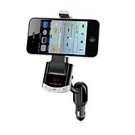 bluetooth håndfrit bilsæt, Bluetooth 4.0 / FM-sender / oplader til bil / mobiltelefon holder
