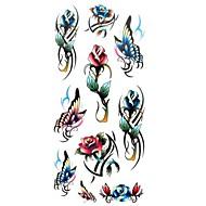 מדבקות קעקועים - תבנית/גב תחתון/Waterproof - נשים/מבוגר/נוער - מרובה צבעים - נייר - 1 - 18.5*8.5cm - דפוס