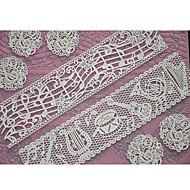 billige Bakeredskap-Four-C kake forsyninger snøre silikon mold preging matte for kake blonder, baking pad blonder matte dekorere verktøy fargen rosa