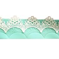 저렴한 -케이크 퐁 당을위한 꽃 인스턴트 레이스 금형 케이크 금형 실리콘 베이킹 도구 주방 액세서리 장식