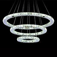 billige Bestelgere-Sirkelformet Lysekroner Omgivelseslys - Krystall, LED, 110-120V / 220-240V, Kald Hvit, LED lyskilde inkludert / 15-20㎡ / Integrert LED