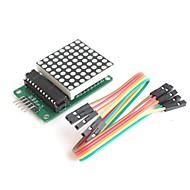 max7219 8 * 8 bodů matice sériově připojeny 8-místný LED ovladač zobrazení pro Arduino