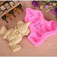 fondant forma molde bolo de chocolate silicone palhaço, ferramentas de decoração cupcake, l9cm * * w8cm h1.7cm