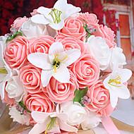 billige Kunstige blomster-Gren Styropor Liljer Bordblomst Kunstige blomster 25 x 25 x 30(9.84'' x 9.84'' x 11.81'')