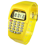 billige Quartz-Børne Modeur Digital Watch Japansk Quartz Digital 30 m Kalender Afslappet Ur Gummi Bånd Digital Slik Gul - Gul To år Batteri Levetid