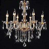 Chandeliers 6 Lights Golden Vintage in Crystal Feature High Quality