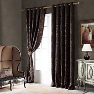 billige Mørkleggingsgardiner-landet curtains® ett panel kaffe vintreet / floral chenille blackout gardin