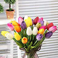 Χαμηλού Κόστους Ψεύτικα Λουλούδια-Ψεύτικα λουλούδια 1 Κλαδί μινιμαλιστικό στυλ Τουλίπες Λουλούδι για Τραπέζι