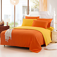 Yuxin® Orange Color Cotton Duvet Cover Sets 4 Piece Suit Comfort Simple Modern for Twin Full and Queen Bed Size