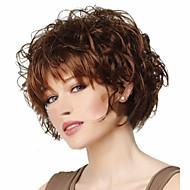 Syntetiske parykker Krøllet Assymetrisk frisure Syntetisk hår Cosplay Brun Paryk Dame Kort Lågløs Brun