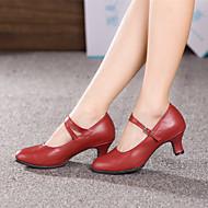 billige Moderne sko-Kan ikke spesialtilpasses-Dame-Dansesko-Moderne Ballett-Lær-Kubansk hæl-Svart Rød Sølv Gull