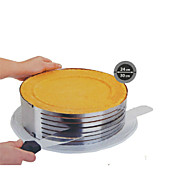 billige Bakeredskap-mote metall sirkel justerbar rustfritt stål chiffon mousse kake lag kutte høvelen bakeware matlaging kake ss-43