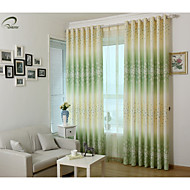 cheap -Blackout Curtains Drapes Bedroom Polyester Print & Jacquard