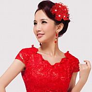 プラスチックネットの花のヘッドピースの結婚式のパーティーエレガントな女性のスタイル