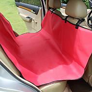 Собака Чехол для сидения автомобиля Животные Коврики и подушки Твердый Водонепроницаемость Компактность СкладнойЧерный Серый Кофейный