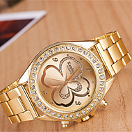 yoonheel בגדי ריקוד נשים שעונים יום יומיים שעוני אופנה קווארץ מתכת להקה זהב