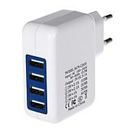 4000mA fire-port USB-strømforsyning / oplader (100 ~ 240V / EU stik)