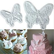 2stk sommerfugl kage cookies cutter stemplet Sugarcraft udsmykning fondant skimmel