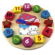 Orologio giocattolo in legno Orologio Istruzione Legno Giocattoli Regalo
