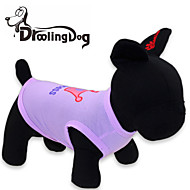 Cat Dog Shirt / T-Shirt Dog Clothes Tiaras & Crowns Purple Rose Pink Terylene Costume For Spring &  Fall