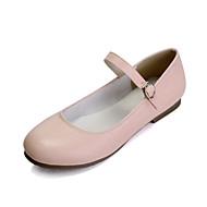 Obyčejné-Dámské-Taneční boty-Balet-Kůže-Rovná podrážka-Černá Růžová Bílá Mandlová