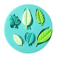 1 pc 3d forma de folha de silicone molde fondant de silicone formas de cozimento sabão molde sugarcraft ferramentas de decoração do bolo