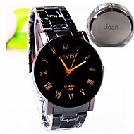 cheap Personalized Watches-Personalized Gift Men's Casual Watch Steel Strap Engraved Watch