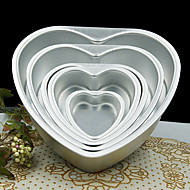 cheap Bakeware-5 inch Metal Love Heart Shape Cake Mold Detachable Live Bottom Pastry Mould