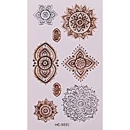 Altele Acțibilde de Tatuaj - Auriu - Model - 6*5 - Copil/Dame/Girl/Bărbați/Adult/Boy/Adolescent - Hârtie -