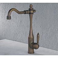 cheap Nickel Brushed Series-Bathroom Sink Faucet - Rotatable Nickel Brushed Centerset One Hole Single Handle One Hole