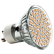 billige Spotlys med LED-3W 250-350 lm GU10 LED-spotpærer MR16 60 leds SMD 3528 Varm hvit AC 220-240V