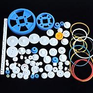 hesapli Elektrik Ekipmanları ve Gereçleri-Plastik dişli motor dişli şanzıman paketi robot aksesuar kiti 80 çeşit