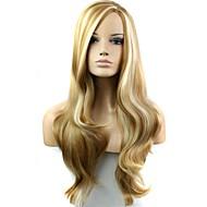 Mulher Perucas sintéticas Longo F27-613 # Cabelo com Luzes/Reflexos Parte lateral preto peruca Peruca de Halloween Peruca de carnaval