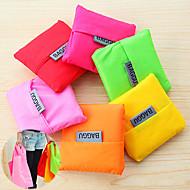 grande capacidade de moda saco de compras reutilizável armazenamento dobra-capazes sacolas de lona (cor aleatória)