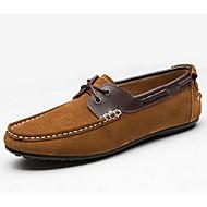 tanie Small Size Shoes-Mokasyny Buty męskie Niebieski / Brązowy Zamsz Na co dzień