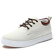 baratos Sapatos Masculinos-Homens Lona Primavera / Outono Conforto Antiderrapante Bege / Cinzento / Azul