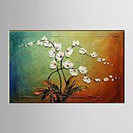billiga Stilleben-Hang målad oljemålning HANDMÅLAD - Blommig / Botanisk Moderna Duk