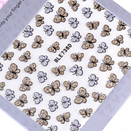 1PCS  Glisten  Butterfly Nail Stickers