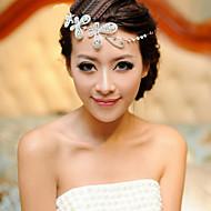 お買い得  ウェディング髪飾り-樹脂 - ヘッドチェーン 1 結婚式 パーティー かぶと