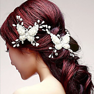 cheap Wedding Headpieces-Butterfly Shaper Hair Flower Bride Hair Wedding Headdress Wedding Accessories One Piece