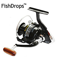 cheap Fishing-Fishing Reel Spinning Reel 5.5:1 Gear Ratio+13 Ball Bearings Hand Orientation Exchangable Left-handed Right-handed Sea Fishing Bait