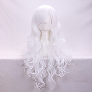 Fashionable Curly Hair Fleeciness A Wig White Anime Cosplay Euramerican Fashion Wig