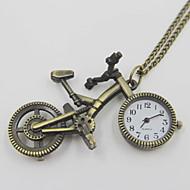 절묘한 자전거 모양의 회중 시계 목걸이 스웨터