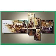 El-Boyalı Soyut Herhangi Şekli Dört Panelli Kanvas Hang-Boyalı Yağlıboya Resim For Ev dekorasyonu